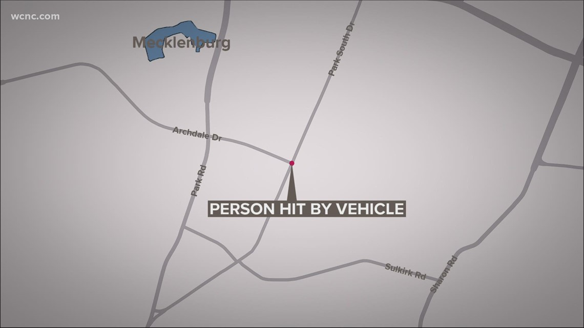 One person hurt after being hit by vehicle in south Charlotte