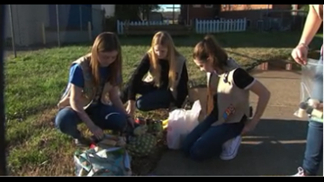 Charlotte Girl Scout troop making big impact with tiny pantry