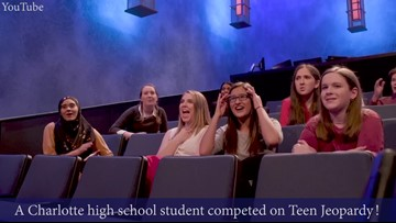 Meet the Charlotte high school student who will be on Teen Jeopardy! Monday