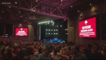 PNC Music Pavilion evacuated due to lightning