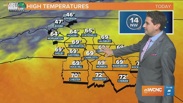 Crisp fall Tuesday in the Carolinas