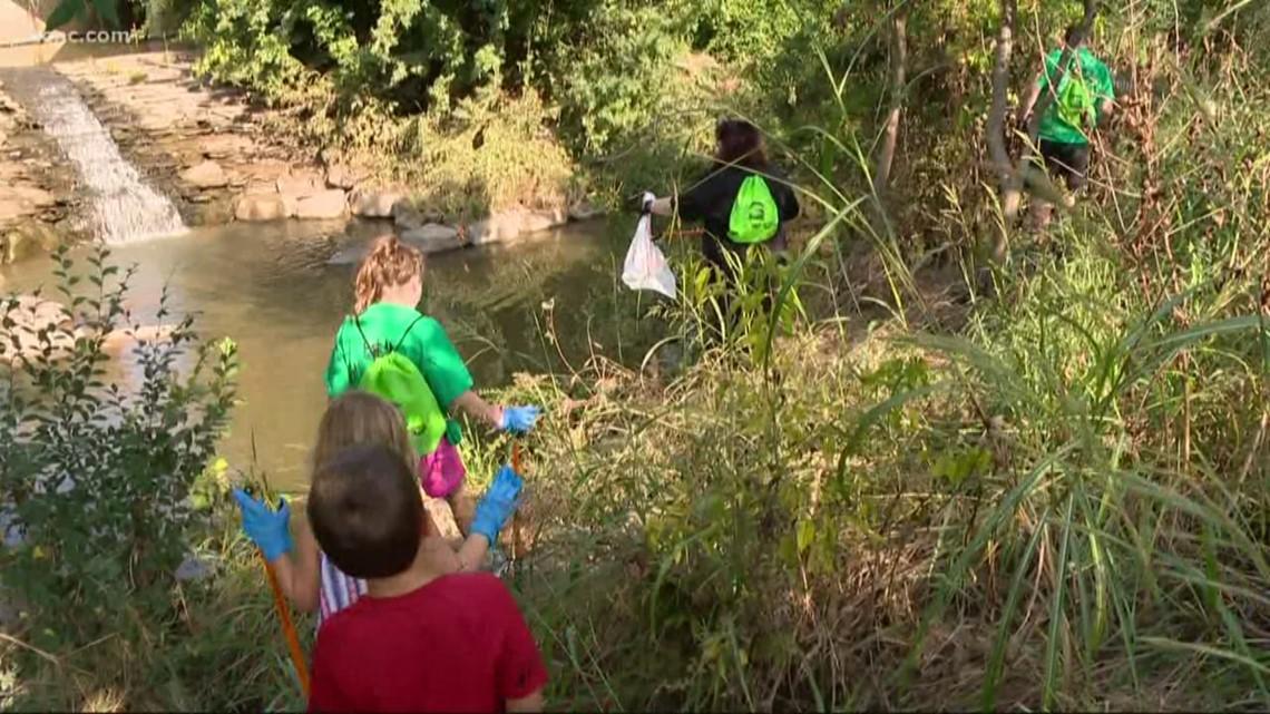 Volunteers clean up Midtown Park in South End