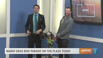 Mardi Gras Bike Parade on the Plaza