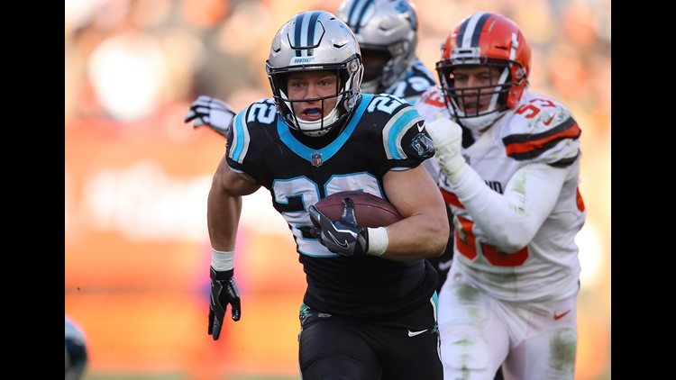 Christian McCaffrey vs Cleveland Browns December 2018