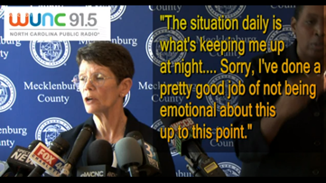 Mecklenburg County health director gets emotional discussing coronavirus situation