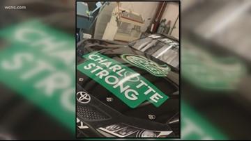 Ryan Repko driving special UNC Charlotte car, raising money for shooting victims' families