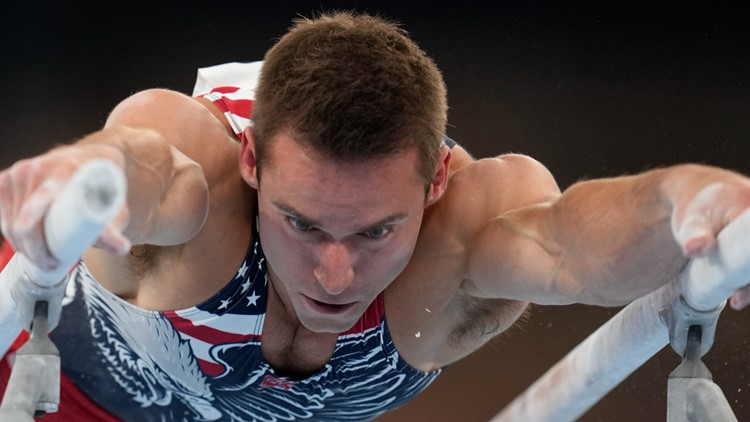 Sam Mikulak will vie for gold in the men's gymnastics individual all-around Wednesday