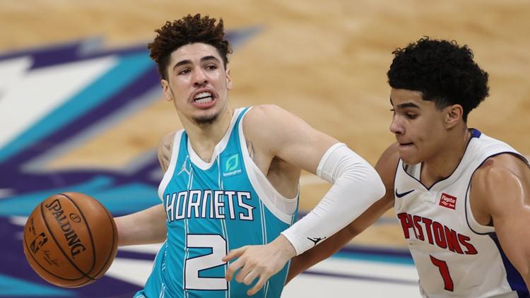 LaMelo Ball returns, helps Hornets beat Pistons 107-94