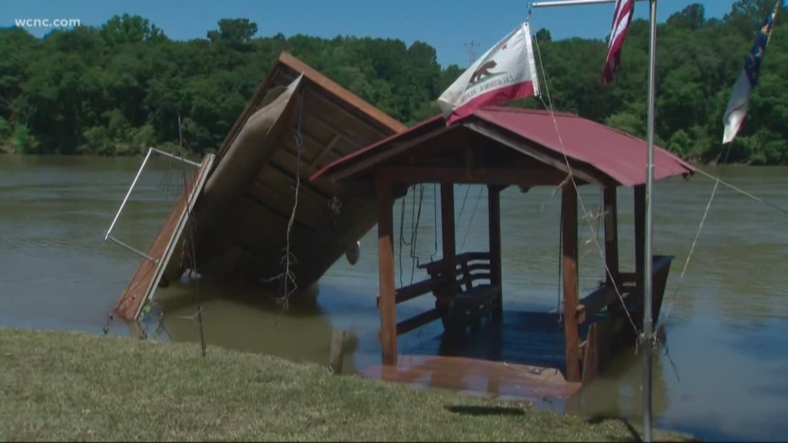Residents Return To Homes After Mountain Island Lake