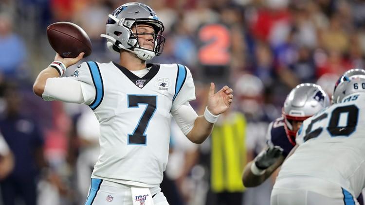 Kyle Allen Panthers 2019 vs Patriots