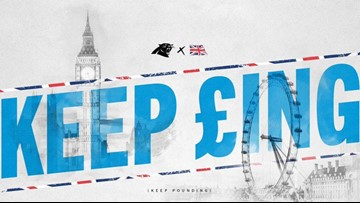 The Panthers are across the Pond in London to take on the Buccaneers