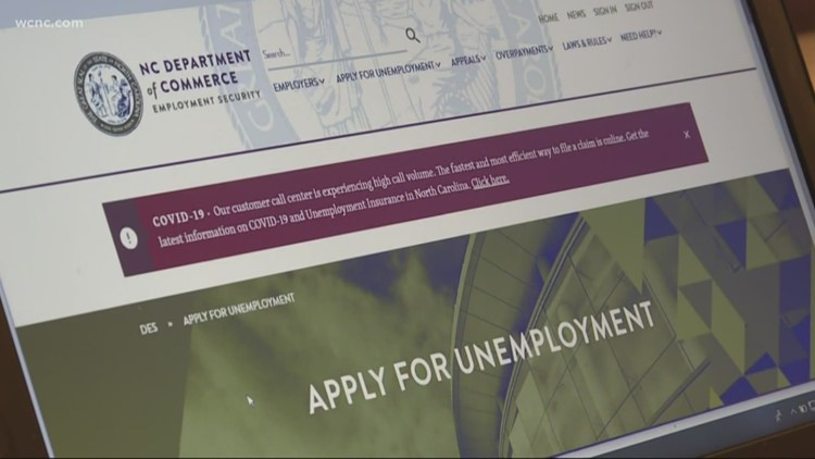 NC residents having trouble filing unemployment claims