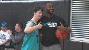 Hornets hold clinic for Special Olympians