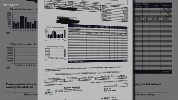 Rock Hill Woman Shocked By 6 000 Water Bill Wcnc Com