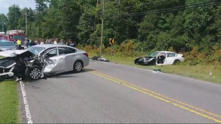 Five people hurt in head-on collision in Gastonia