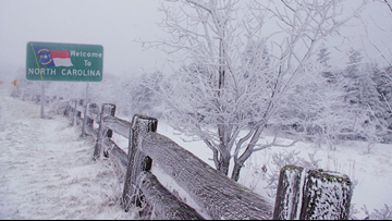 Winter Weather Advisory in NC mountains as snow blankets the high country