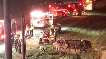 9 injured in rollover crash on I-485