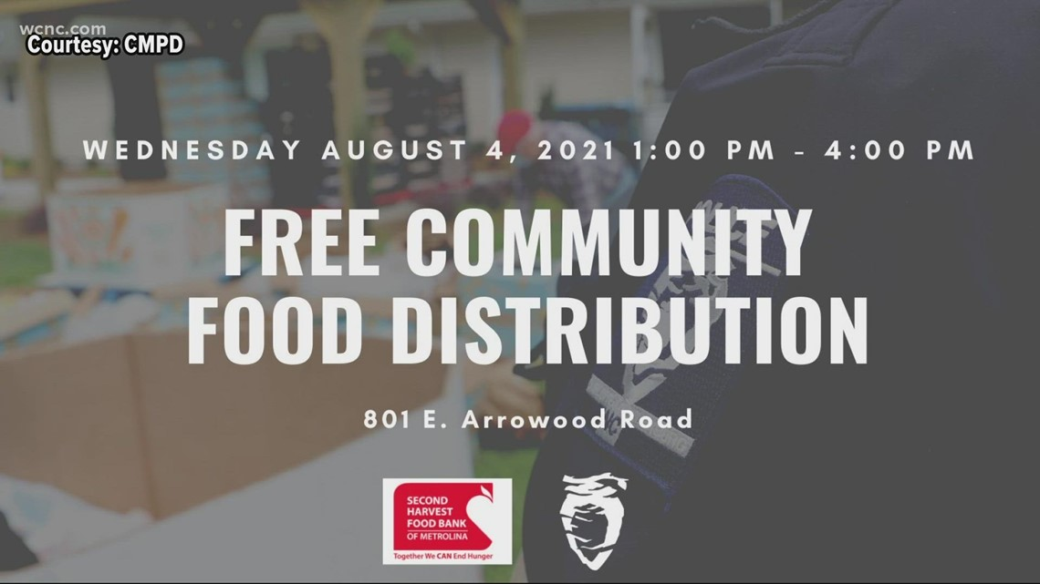 CMPD partnering up with Second Harvest food pantry to feed people in need