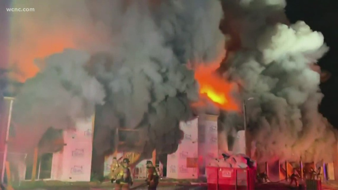 Fire crews battling 2-alarm apartment fire in east Charlotte