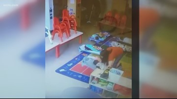 Caught on camera: Daycare worker accused of locking toddler in bathroom for hours