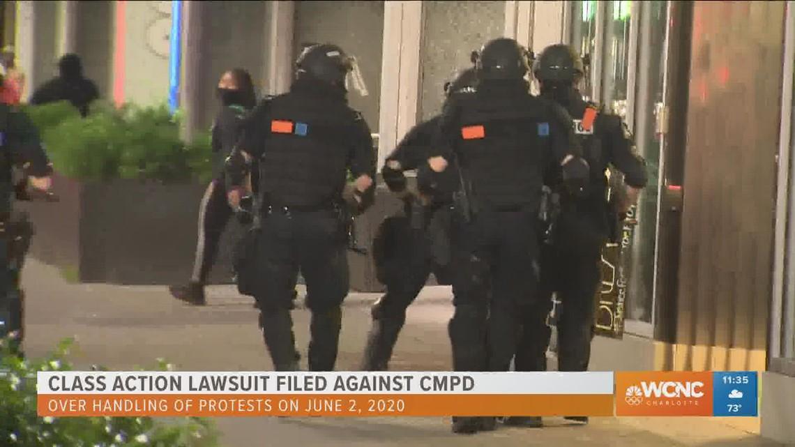 Protesters file lawsuit against CMPD