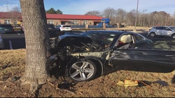 Woman drives into tree at a York County elementary school