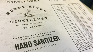 Gaston County distillery switches production from rum to hand sanitizer for healthcare workers