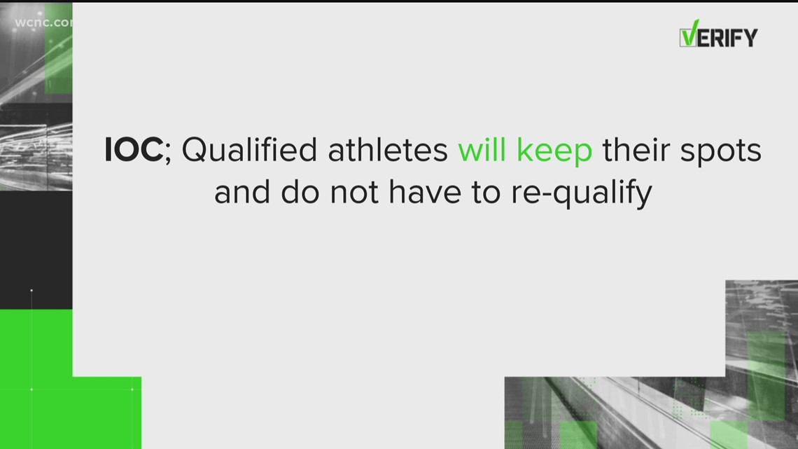 VERIFY: Do 2020 Olympic athletes have to re-qualify for 2021?