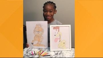 Artist Jim Davis responds to  5-year-old Charlotte girl's Garfield drawings