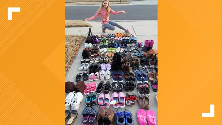 High school student trying to collect shoes for homeless kids, adults
