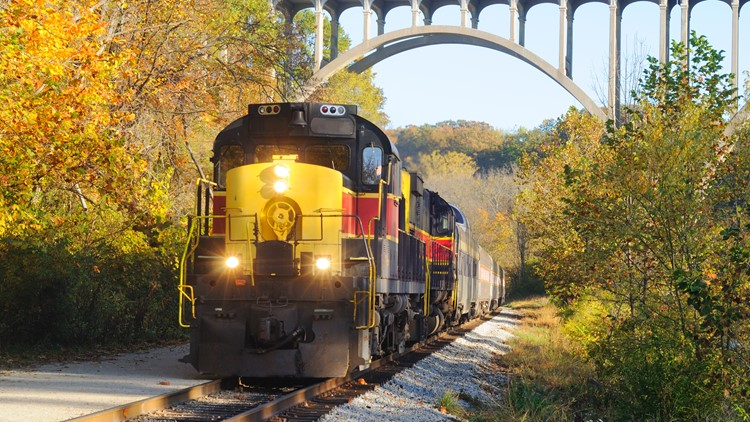 All aboard! Enjoy North Carolina's fall color on the Great Smoky Mountains Railroad