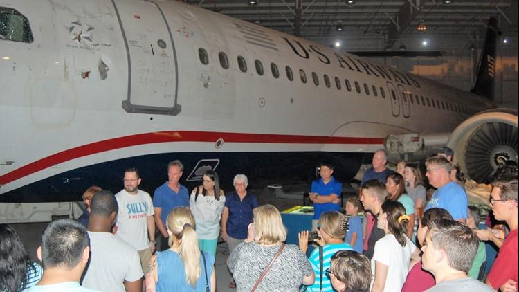 Crowds gather at Carolina's Aviation Museum