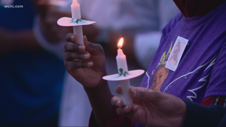 Vigil held for Gastonia 7-year-old girl who was fatally shot