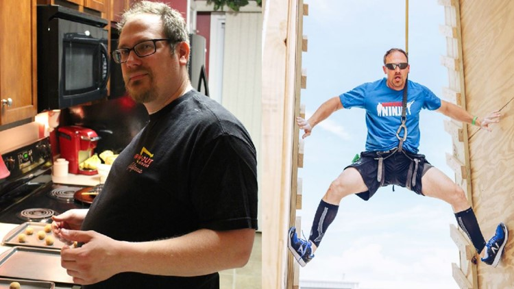 He lost more than 90 pounds. Now he's competing on American Ninja Warrior