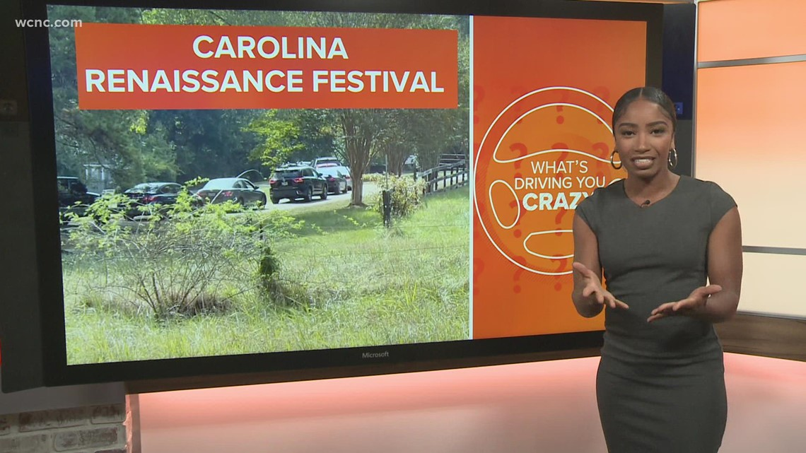 Traffic backups at Carolina Renaissance Festival
