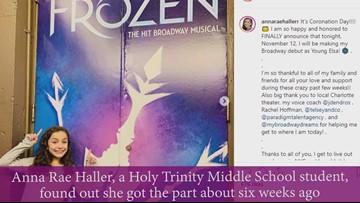 'Epic gig' | Charlotte 7th grader makes debut on Broadway