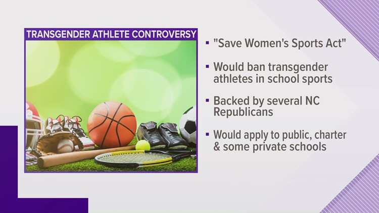 Some North Carolina lawmakers push to ban transgender students from joining women's sports