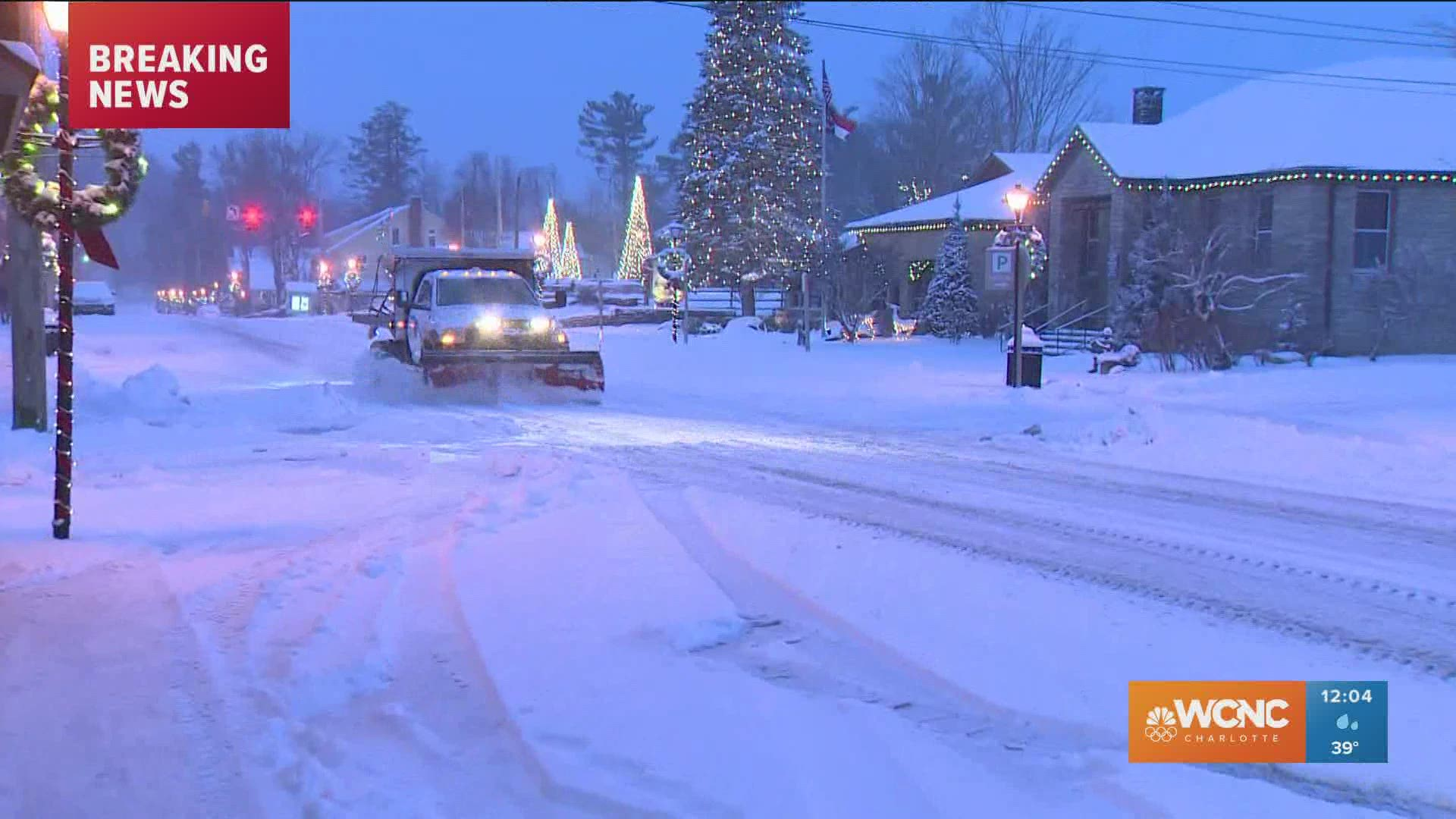 Christmas Show 2021 Charlotte Nc Winter Storm Dumps Heavy Snow In Nc Mountains Up To 1 Possible In Charlotte Wcnc Com