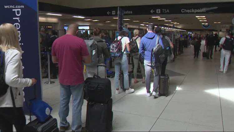 Charlotte airport jam-packed with Memorial Day travelers