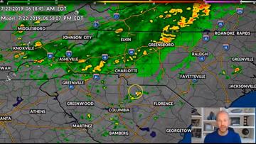 Panovich: Soaking rain headed to Charlotte, flood threat in mountains