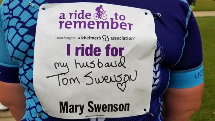 Mary Swenson bike ride sign