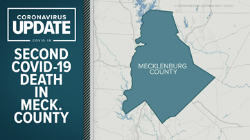 Mecklenburg County reports second COVID-19 death