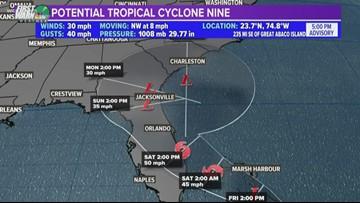 New tropical cyclone sets sights on Bahamas, Southeast