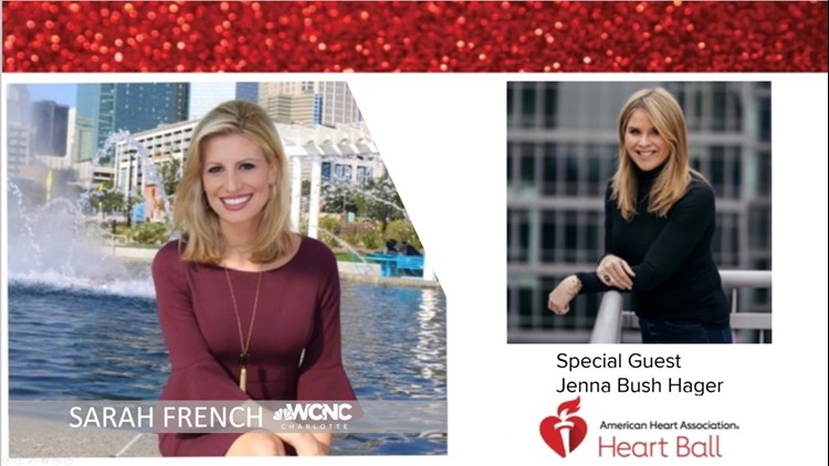 Sarah French emcees Greater Charlotte Heart Ball with special guest Jenna Bush Hager