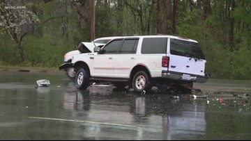 Heavy rain, thunderstorms take down trees, cause problems on Charlotte-area roads