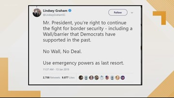 Lindsey Graham's solution to end the government shutdown and build the border wall