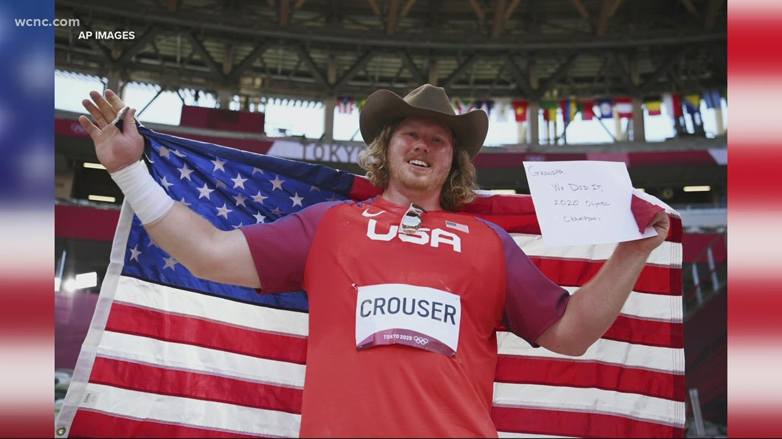 Ryan Crouser sets shot put Olympic record, US wins gold and silver