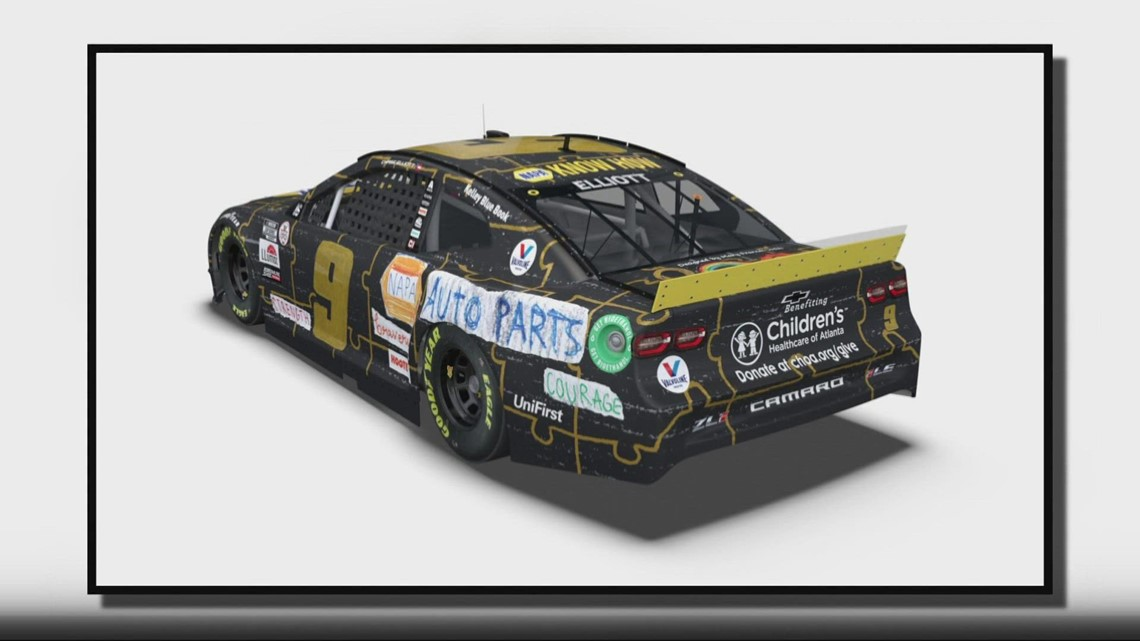 Chase Elliott to debut special paint scheme partially designed by cancer patients age 6-15