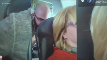 American Airlines passenger says man assaulted her by punching seat in viral video