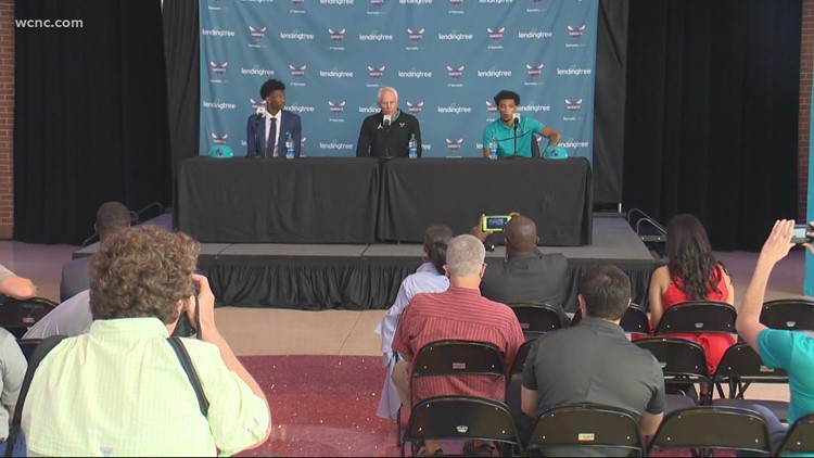 Hornets introduce first-round draft picks